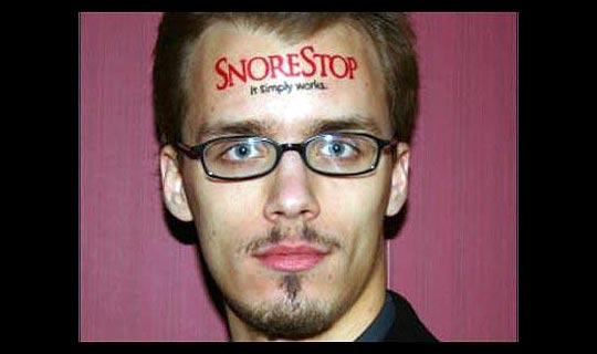 Twenty-year-old Andrew Fischer got better value for his flesh, earning $37,375 to emblazon the Snore Stop logo across his forehead for only 30 days. The stunt generated millions of dollars in free publicity for the company.
