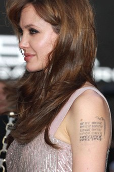 The longitude and latitude coordinates Celebrity Tattoo
