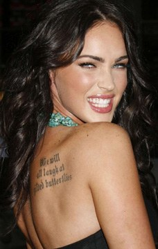 The Quote Celebrity Tattoo
