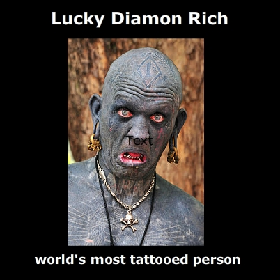 World's Most Tattooed Man – Diamond Rich