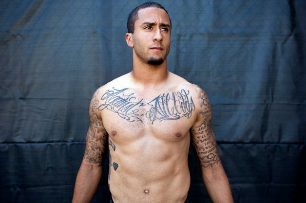 NFL Star Colin Kaepernick New Tribal Tattoo