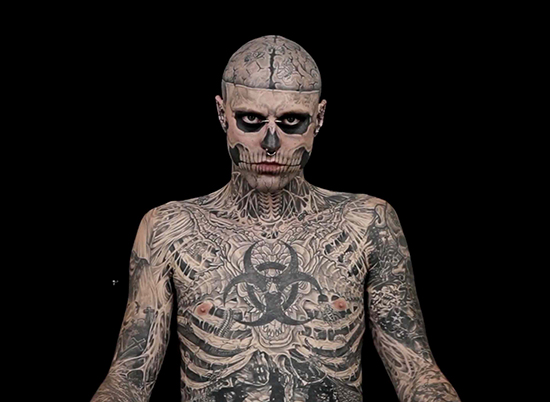 top 10 most tattooed people in the world | bad tattoo pictures, Skeleton